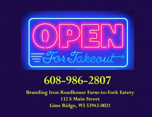 Take it To Go! We are Open for Takeout!
