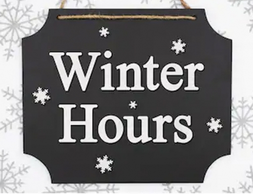 Winter Hours are in Effect